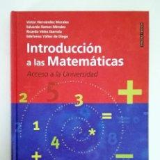 Libros: INTRODUCCIÓN A LAS MATEMÁTICAS   UNED. Lote 296005413