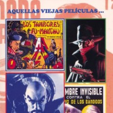 Libros: AQUELLAS VIEJAS PELÍCULAS... AQUELLOS VIEJOS TEBEOS... FUMANCHÚ, HOMBRE INVISIBLE, LA SOMBRA, FLASH. Lote 91187800