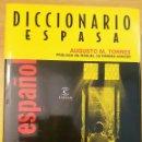 Libros: DICCIONARIO ESPASA CINE ESPAÑOL. AUGUSTO M. TORRES. PRÓLOGO DE MANUEL GUTIÉRREZ ARAGÓN.. Lote 152568668