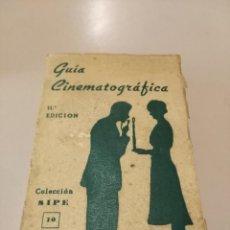Libros: GUIA CINEMATOGRÁFICA COLECCIÓN SIPE NUM 10. Lote 190737968
