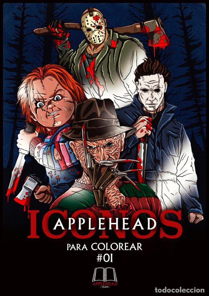 ICONOS APPLEHEAD #01 (MICHAEL MYERS , FREDDY KRUEGER, CHUCKY (MUÑECO DIABÓLICO), JASON VOORHEES) (Libros Nuevos - Bellas Artes, ocio y coleccionismo - Cine)