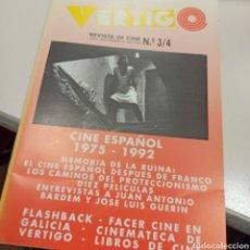 Libros: REVISTA VERTIGO NÚMERO 3/4 ESPECIAL CINE ESPAÑOL 1975-1992. Lote 236178465