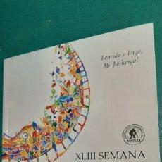 Libros: CATÁLOGO XLIII SEMANA DE CINE LUGO 2021 140 PAGINAS C. Lote 288640613