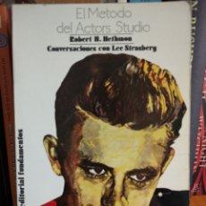 Libros: EL MÉTODO DEL ACTORS ESTUDIO. ROBERT H. HEFTMON. Lote 289685238