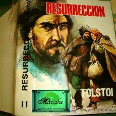 Libros de segunda mano: RESURRECCIÓN LEÓN TOLSTOI, CLÁSICOS PETRONIO TOMO II, VERSIÓN J. RIBERA, PORTADA CHACO. Lote 27230442