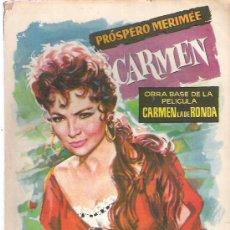 Libros de segunda mano: CARMEN - PROSPERO MERIMEE ** COLECCION POPULAR LITETERARIA Nº 111 ** 1960. Lote 18677269