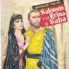 Libros de segunda mano: SALOMON Y LA REINA DE SABA - MATHILDE FIELDS - COLECCION POPULAR LITERARIA Nº 100. Lote 19965996