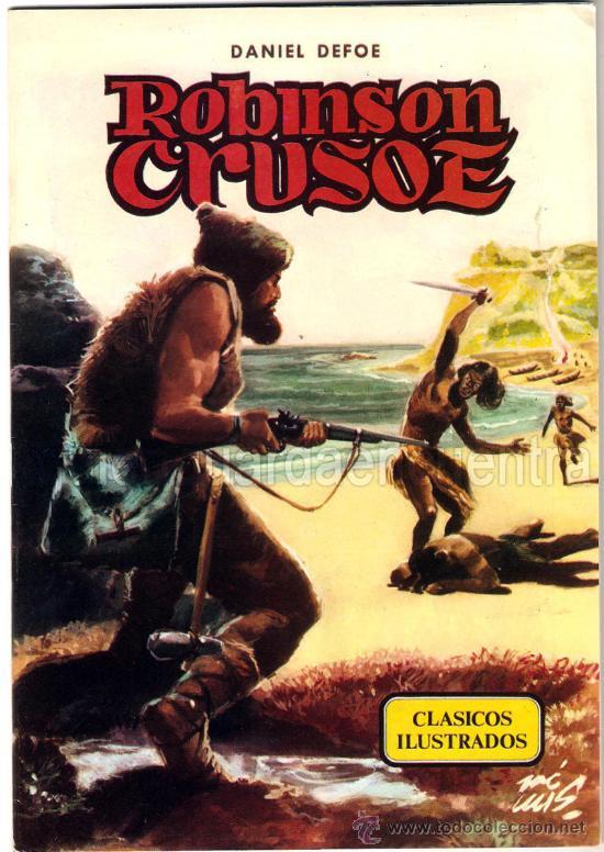 CUENTOS CLÁSICOS ILUSTRADOS Nº 2-3-4-5-6 1984 EDITORIAL VALENCIANA. DANIEL DEFOE, JULIO VERNE..... (Libros de Segunda Mano (posteriores a 1936) - Literatura - Narrativa - Clásicos)