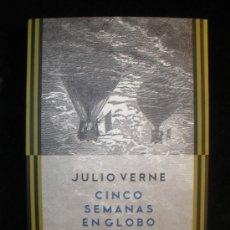 Libros de segunda mano: CINCO SEMANAS EN GLOBO. JULIO VERNE.CLARIDAD. 2009 208 PAG. Lote 20088049