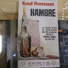 Livres d'occasion: HAMBRE / KNUT HAMSUN / ES UN LIBRO PLAZA 105. Lote 20821703