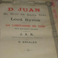 Libros de segunda mano: DON JUAN DE LORD BYRON. AÑO 1883. . Lote 27157533