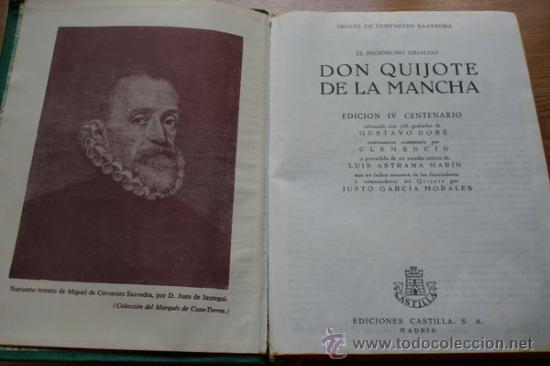 EL INGENIOSO HIDALGO DON QUIJOTE DE LA MANCHA. CERVANTES (MIGUEL DE) (Libros de Segunda Mano (posteriores a 1936) - Literatura - Narrativa - Clásicos)