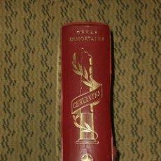 Libros de segunda mano: OBRAS INMORTALES DE MIGUEL DE CERVANTES.. Lote 22651575