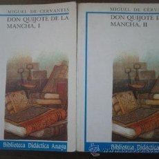Libros de segunda mano: DON QUIJOTE DE LA MANCHA (2 VOLÚMENES). CERVANTES, MIGUEL DE. ANAYA. Lote 24086067