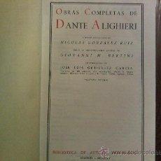 Libros de segunda mano: OBRAS COMPLETAS DE DANTE ALIGHIERI. Lote 24361221