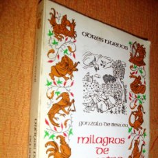 Libros de segunda mano: MILAGROS DE NUESTRA SEÑORA-GONZALO DE BERCEO 1986. Lote 27612938