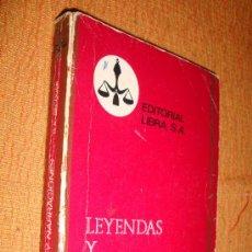 Libros de segunda mano: LEYENDAS Y NARRACIONES-GUSTAVO A. BECQUER-PÚRPURA 1970. Lote 24991609