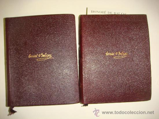 AGUILAR-COLECCION ETERNAS-HONORE DE BALZAC - OBRAS COMPLETAS 2 TOMOS (Libros de Segunda Mano (posteriores a 1936) - Literatura - Narrativa - Clásicos)