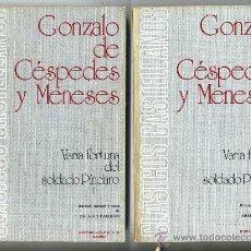Libros de segunda mano: CLÁSICOS CASTELLANOS . GONZALO CÉSPEDES Y MENESES : VARIA FORTUNA DEL SOLDADO PÍNDARO - DOS TOMOS. Lote 25710615