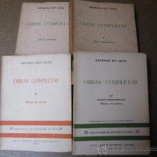 Libros de segunda mano: REY SOTO, ANTONIO - OBRAS COMPLETAS - 4 TOMOS, 1964 EDI DEL MONASTERIO DE POIO + INFO. Lote 26272734