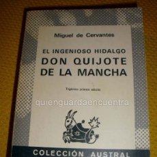 Libros de segunda mano: LIBRO DE CERVANTES DON QUIJOTE DE LA MANCHA, Nº 150, COL. AUSTRAL, ESPASA- CALPE 1983 EDICIÓN 31. Lote 26871242