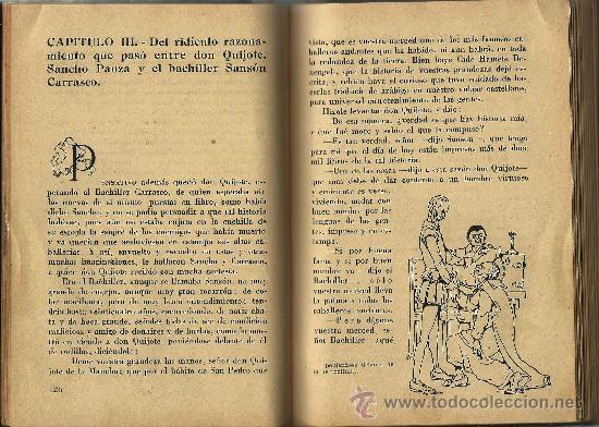 Libros de segunda mano: Quijote infantil / Miguel de Cervantes ; edición abreviada por Nicolás González - 1947 - Foto 3 - 26850935