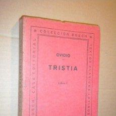 Libros de segunda mano: TRISTIA. LIBRO I / OVIDIO. Lote 27317559