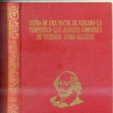 Libros de segunda mano: SHAKESPEARE : CUATRO COMEDIAS. Lote 28711301