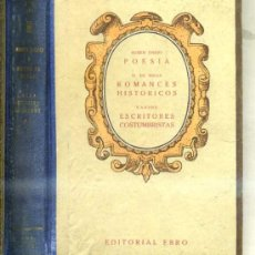Libros de segunda mano: CLÁSICOS EBRO : RUBÉN DARÍO, DUQUE DE RIVAS, ESCRITORES COSTUMBRISTAS. Lote 29054929
