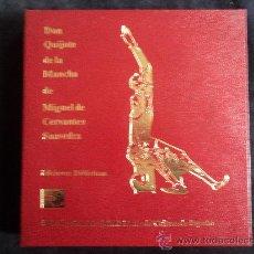 Libros de segunda mano: DON QUIJOTE DE LA MANCHA. CERVANTES. ED. DIDACTICA MINISTERIO CULTURA. 47 RADIOCASETTES. 4 ESTUCHES.. Lote 29524636