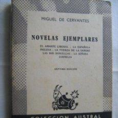 Libros de segunda mano: NOVELAS EJEMPLARES. CERVANTES, MIGUEL. 1967. AUSTRAL. Lote 29596271