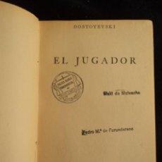 Libros de segunda mano: EL JUGADOR. DOSTOYEVSKI. ESPASA CALPE 1942 150 PAG. Lote 29920819