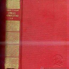 Libros de segunda mano: GABRIEL Y GALÁN : OBRAS COMPLETAS I Y II (AFRODISIO AGUADO, 1943) . Lote 30120453