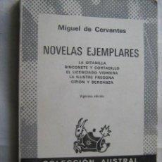 Libros de segunda mano: NOVELAS EJEMPLARES. DE CERVANTES, MIGUEL. 1980. AUSTRAL 29. Lote 30124869