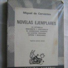 Libros de segunda mano: NOVELAS EJEMPLARES. DE CERVANTES, MIGUEL. 1980. AUSTRAL 29. Lote 30572018