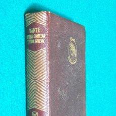 Libros de segunda mano: LA DIVINA COMEDIA Y LA VIDA NUEVA - DANTE ALIGHIERI - AGUILAR EDICIONES - PLENA PIEL - 1964 . Lote 30783884