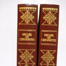 Libros de segunda mano: 2 TOMOS DE DON QUIJOTE DE LA MANCHA -MIGUEL DE CERVANTES Y SAAVEDRA -. Lote 31098711