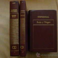 Libros de segunda mano: SATIRICÓN-PETRONIO, MADAME BOVARY-FLAUBERT, ROJO Y NEGRO-STENDALL, ORBIS 1982 3 LIBROS. Lote 31106878