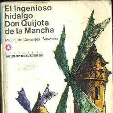 Libros de segunda mano: CERVANTES : DON QUIJOTE DE LA MANCHA TOMO I (KAPELUSZ, 1973). Lote 31641597