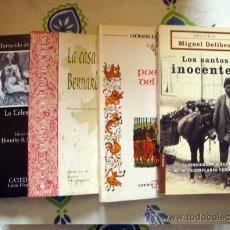 Libros de segunda mano: LOTE 4 LIBROS CLÁSICOS.-LA CELESTINA-LA CASA DE BERNARDA ALBA-LOS SANTOS INOCENTES-POEMA DEL CID. Lote 31926912