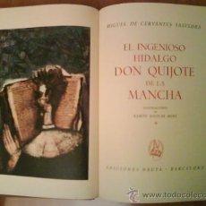 Libros de segunda mano: 1969 EL QUIJOTE - DOS TOMOS / ILUSTRADO P0R AGUILAR MORE. Lote 32301440
