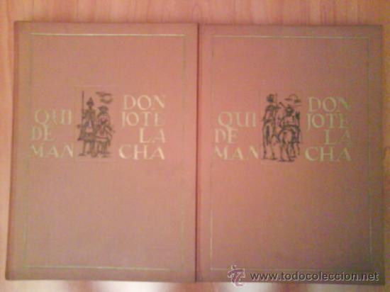 Libros de segunda mano: 1969 EL QUIJOTE - DOS TOMOS / ILUSTRADO P0R AGUILAR MORE - Foto 2 - 32301440