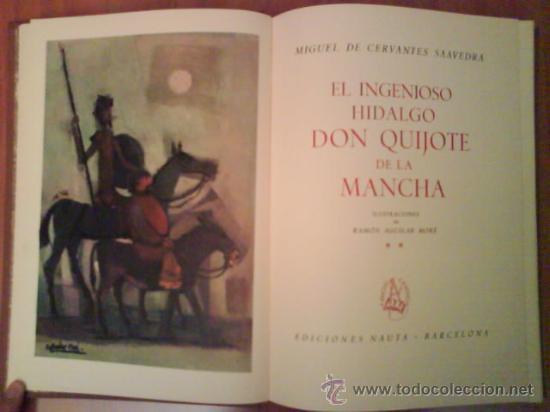 Libros de segunda mano: 1969 EL QUIJOTE - DOS TOMOS / ILUSTRADO P0R AGUILAR MORE - Foto 3 - 32301440
