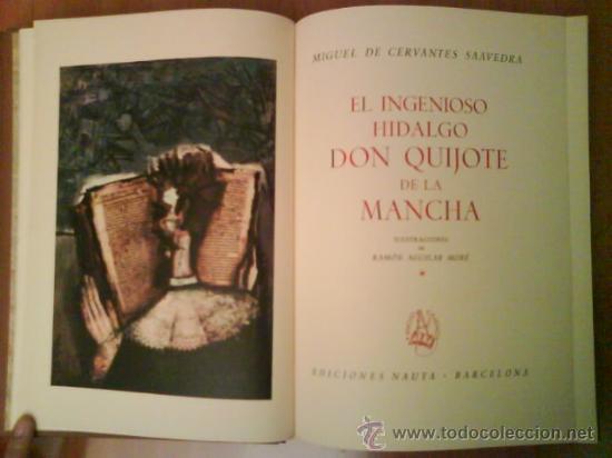 Libros de segunda mano: 1969 EL QUIJOTE - DOS TOMOS / ILUSTRADO P0R AGUILAR MORE - Foto 4 - 32301440