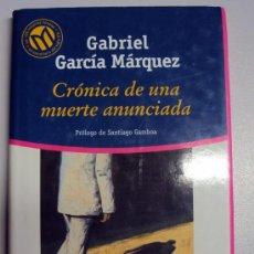 Libros de segunda mano: CRONICA DE UNA MUERTE ANUNCIADA GABRIEL GARCÍA MÁRQUEZ. Lote 32621275