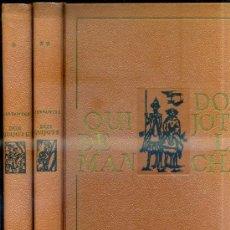 Libros de segunda mano: DON QUIJOTE DE LA MANCHA - DOS TOMOS (NAUTA, 1965) CON ILUSTRACIONES DE AGUILAR MORÉ. Lote 32738543