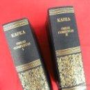 Libros de segunda mano: LIBRO. KAFKA, OBRAS COMPLETAS. 2 TOMOS. AGUILAR. Lote 32880745