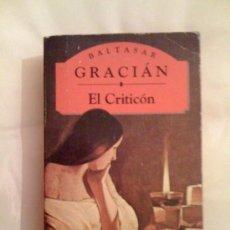 Libros de segunda mano: EL CRITICÓN, DE BALTASAR GRACIÁN. OLYMPIA, 1995. Lote 33359364