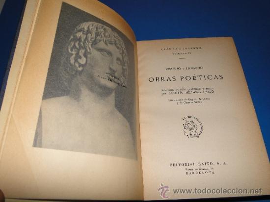 Libros de segunda mano: OBRAS POETICAS .--VIRGILIO y HORACIO - Foto 2 - 33416814