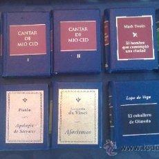 Libros de segunda mano: GRANDES OBRAS DE LA LITERATURA UNIVERSAL EN MINIATURA/PLANETA DEAGOSTINI(EDICCION DE LUJO). Lote 33545206